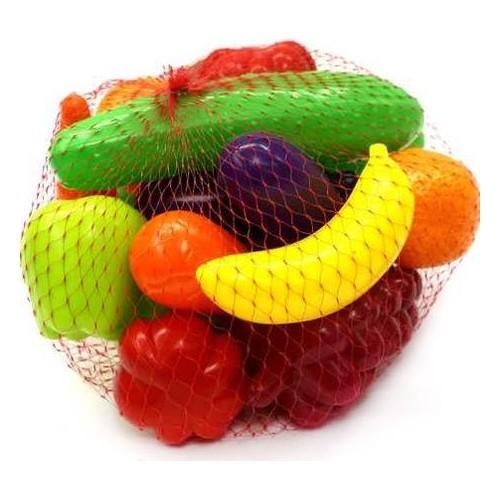 Игровой набор большой Фрукты и овощи, 16 элементов