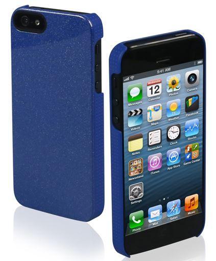 Чехол для iPhone 5 Glitter  с блестками, синий