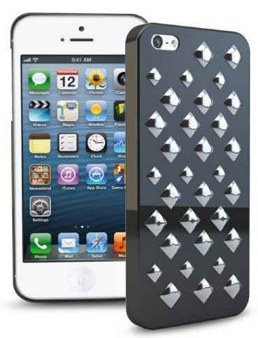 Чехол для iPhone 5 Punk с посеребренными шипами, черный