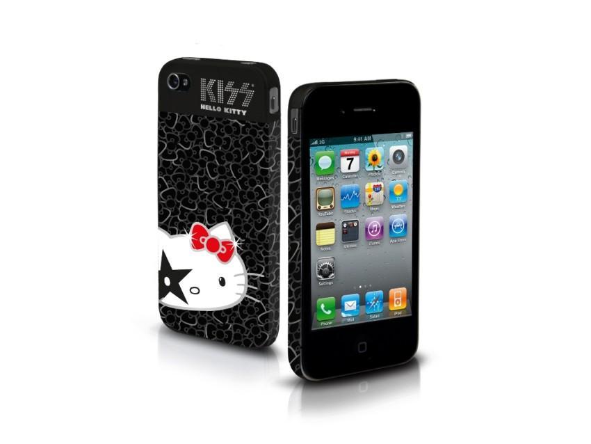 Чехол жесткий Hello Kitty Kiss для iPhone 4/4S (черный)