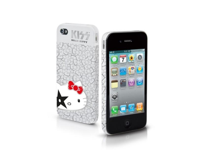 Чехол жесткий Hello Kitty Kiss для iPhone 4/4S (белый)
