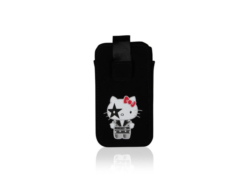 Чехол-карман Hello Kitty Kiss для iPhone 4/4S (черный)