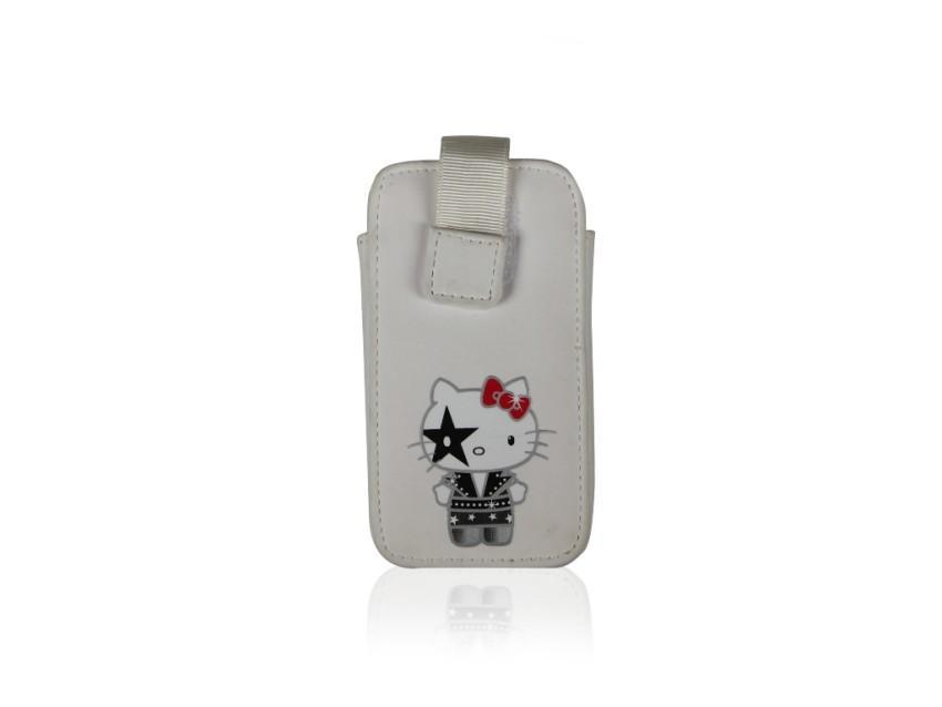 Чехол-карман Hello Kitty Kiss для iPhone 4/4S (белый)