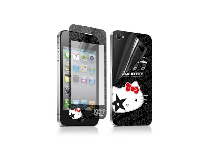 Пленка защитная для iPhone 4/4S Hello Kitty Kiss (на заднюю и переднюю панель, антибликовая)
