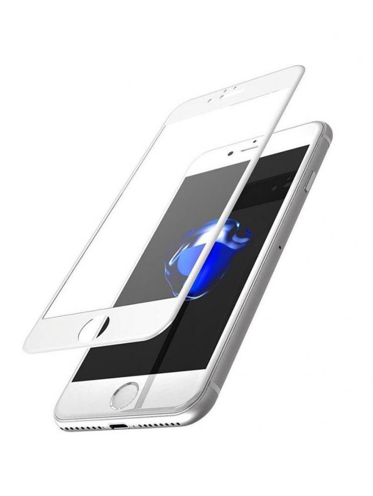 Защитное стекло для телефона skinBOX. 1 side full screen, для Apple Iphone 7/8, цвет белый