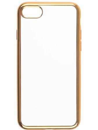 Силиконовый чехол для телефона skinBOX. Silicone chrome border, для Apple Iphone 5/5S, цвет золотой
