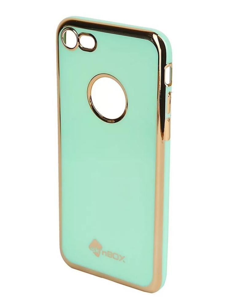 Силиконовый чехол для телефона skinBOX. Slim silicone color, для Apple iPhone 7, цвет мятный