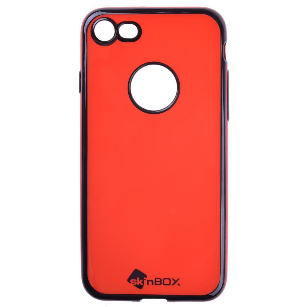 Силиконовый чехол для телефона skinBOX. Slim silicone color, для Apple iPhone 7, цвет красный