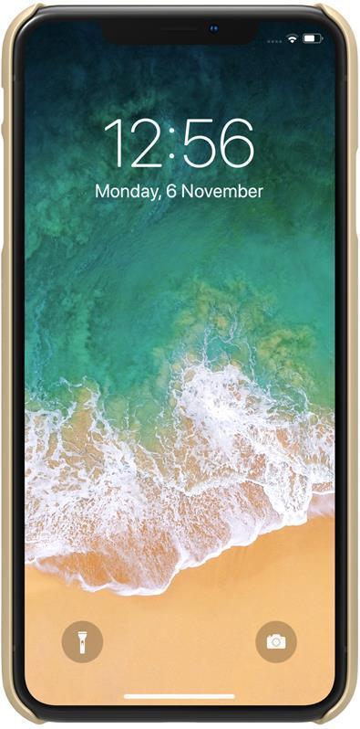 Чехол для телефона Nillkin Super Frosted, для Apple iPhone XS Max, цвет золотистый