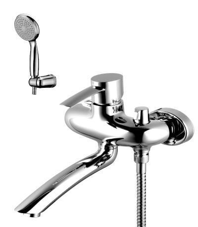 Смеситель для ванны Lemark Atlantiss, с душевым гарнитуром