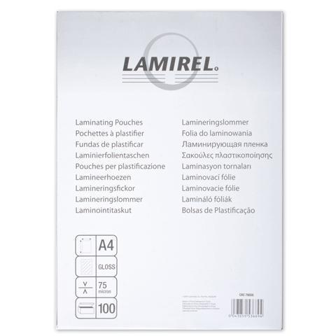 Пленка-заготовка для ламинирования Lamirel, А4, 100 штук