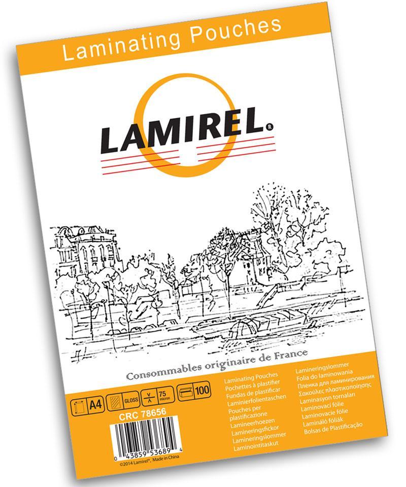Пленка для ламинирования Lamirel, 54x86 мм, 125 мкм, 100 штук