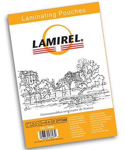Пленка для ламинирования Lamirel, 65x95 мм, 125 мкм, 100 штук