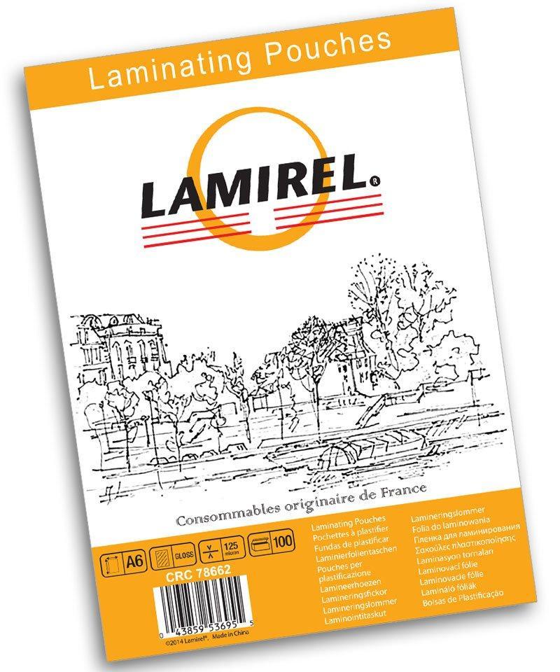 Пленка для ламинирования Lamirel, А6, 125 мкм, 100 штук