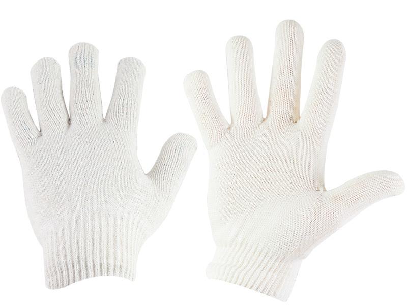 Перчатки рабочие, хлопчатобумажные, 10 класс вязки, 4 нити