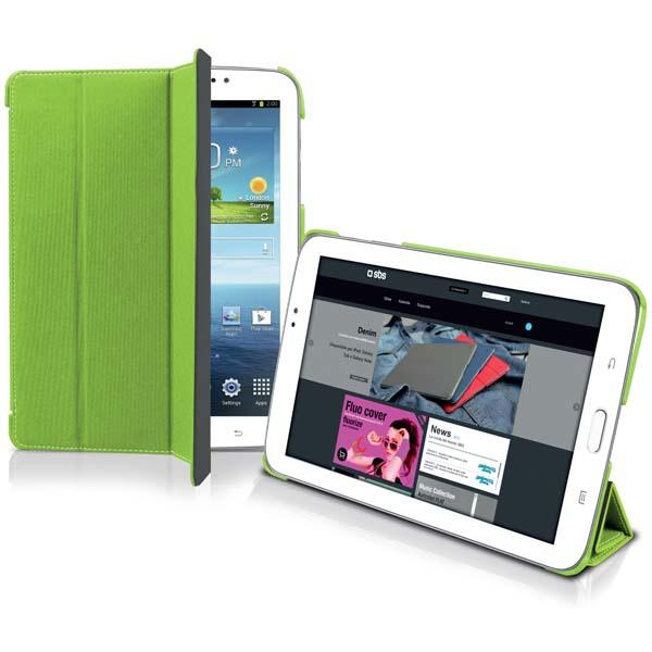 Чехол-книжка Джинс для планшета Samsung Galaxy Tab 3 (7.0), зеленый