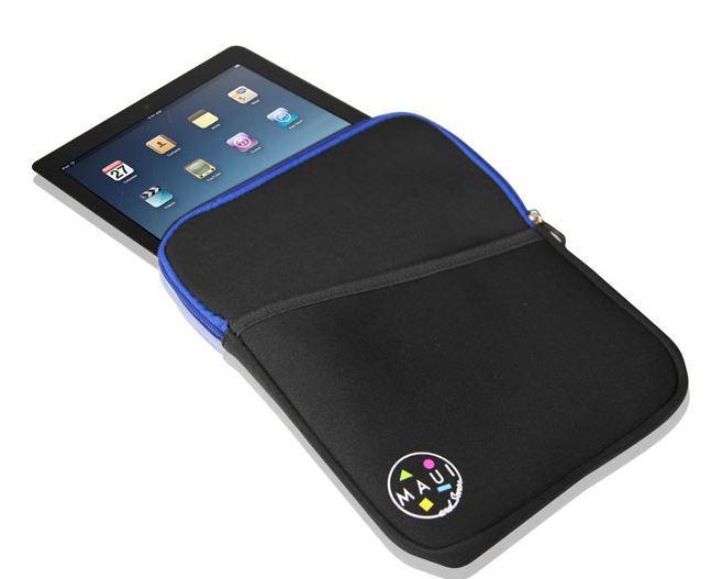 Чехол на молнии для планшетов до 10 дюймов Maui, синий