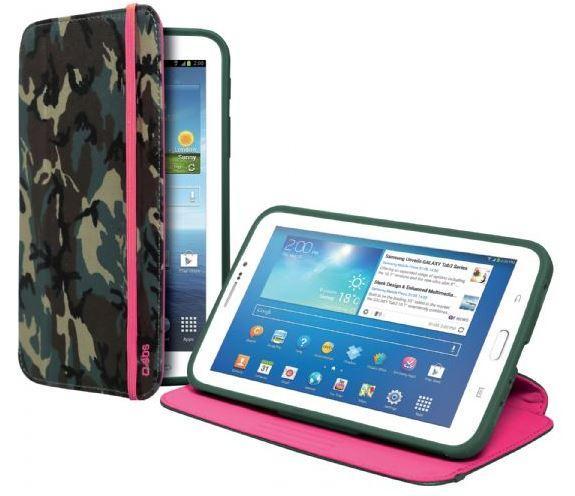 Чехол-книжка с подставкой для планшета Samsung Galaxy TAB 3 7.0 Book Hammer, камуфляжно-розовый