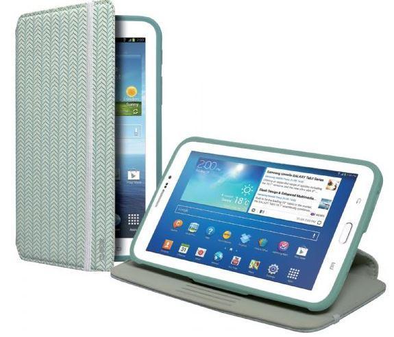 Чехол-книжка с подставкой для планшета Samsung Galaxy TAB 3 7.0 Book Hammer с рельефным 3D-тиснением, бирюзовый