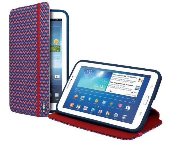 Чехол-книжка с подставкой для планшета Samsung Galaxy TAB 3 7.0 Book Hammer с рельефным 3D-тиснением, темно-синий