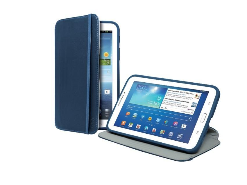 Чехол-книжка Hammer для Samsung Galaxy TAB 3 7.0 (подставка, синий)