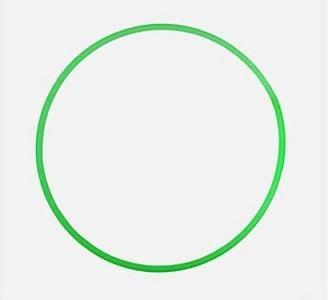 Обруч пластмассовый, 60 см (зеленый)