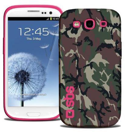 Чехол для Samsung Galaxy S III Camouflage, розовый