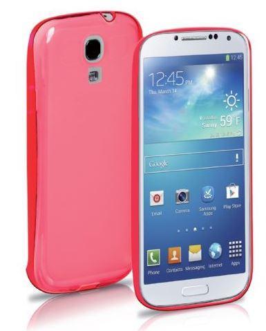 Чехол для Samsung Galaxy S4 Fluo, флуоресцентный, розовый