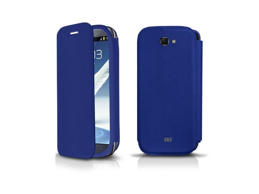 Чехол-книжка для Samsung Galaxy Note 2 N7100 (голубой)