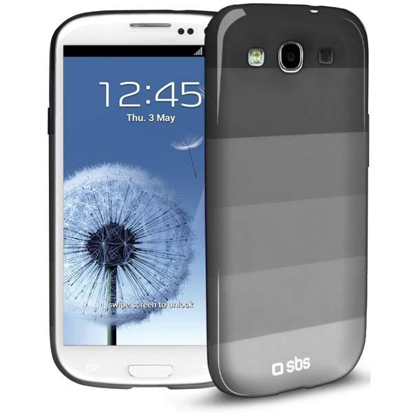 Чехол Rainbow для Samsung Galaxy S III (горизонтальные полосы, белый)