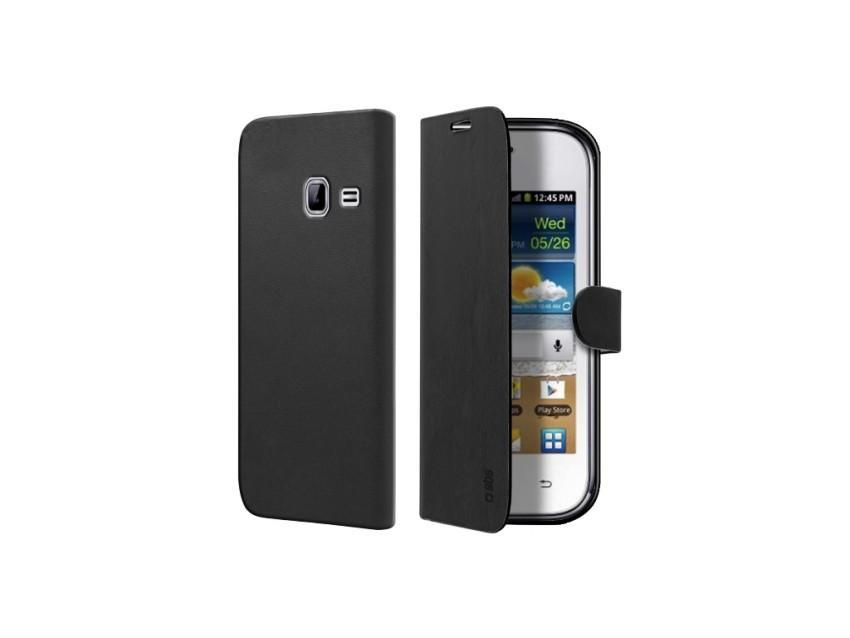 Чехол-книжка Book Case для Samsung Galaxy Ace Duos (магнитная застежка, черный)