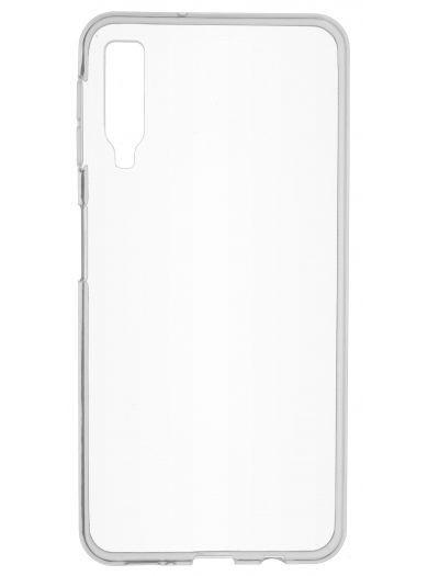 Силиконовый чехол для телефона skinBOX. Slim Silicone, для Samsung Galaxy A7 (2018), цвет прозрачный