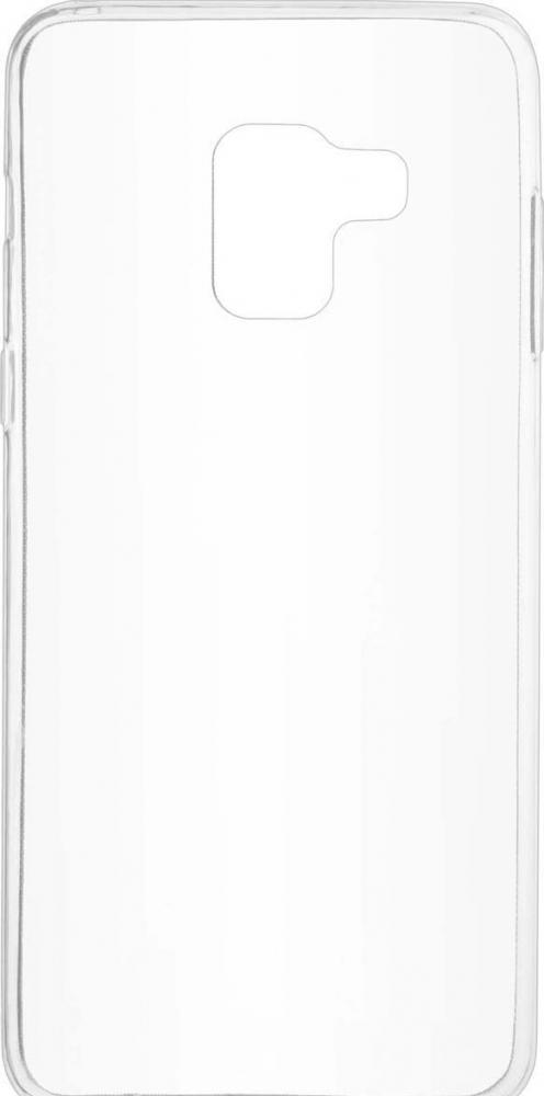 Силиконовый чехол для телефона skinBOX. Slim Silicone, для Samsung Galaxy A8 (2018), цвет прозрачный