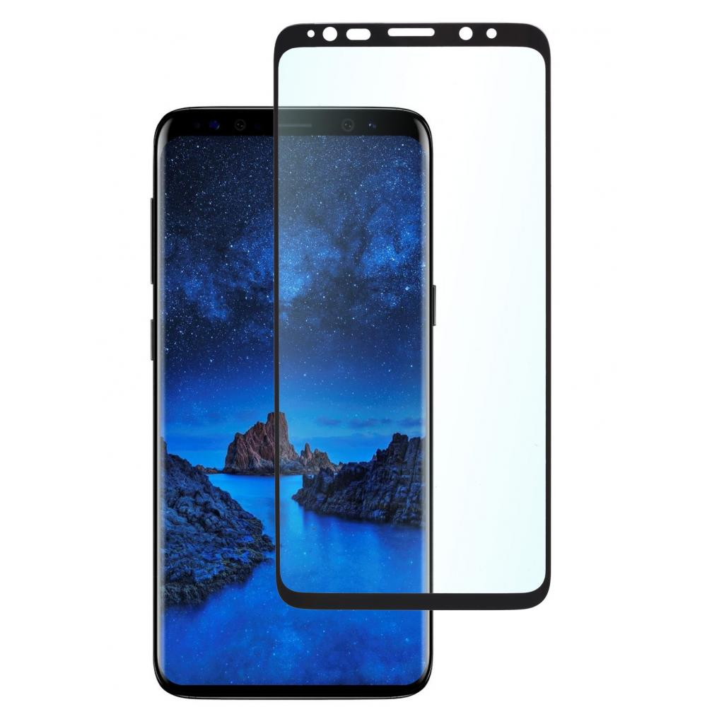 Защитное стекло для телефона skinBOX. 3D full glue, для Samsung Galaxy S9, цвет черный