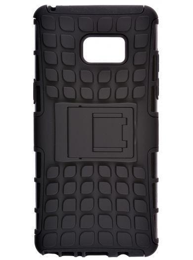 Пластиковый чехол для телефона skinBOX. Defender, для Samsung Galaxy Note 7, цвет черный