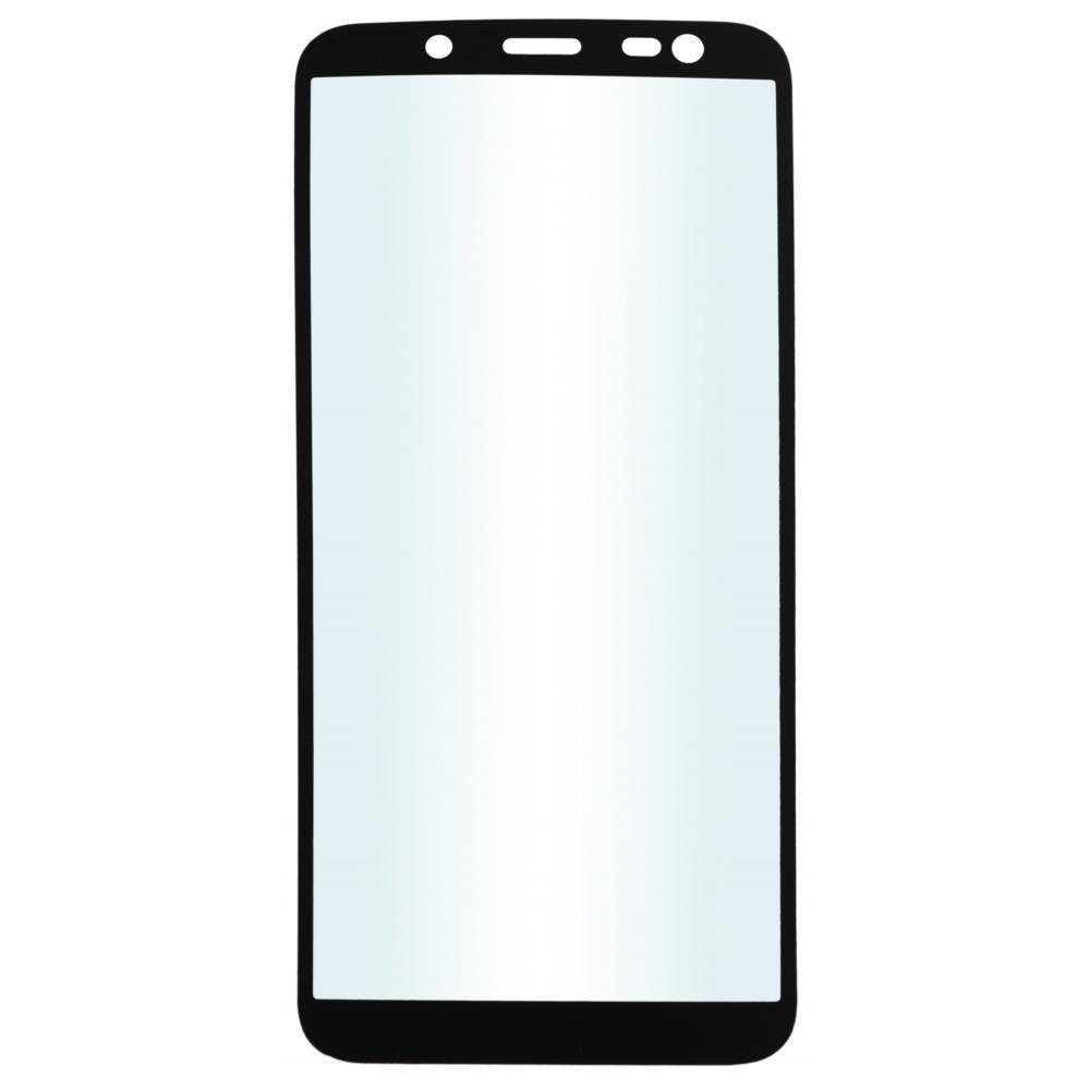 Защитное стекло для телефона skinBOX. 1 side full screen, для Samsung Galaxy J4 (2018), цвет черный