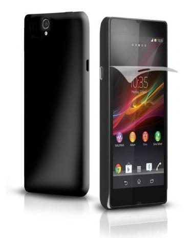Чехол Aero и защитная пленка для Sony Xperia Z, черный