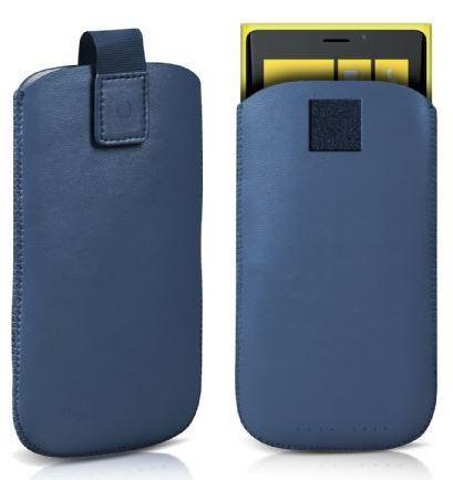 Чехол-карман для телефона Poche, голубой (размер M)