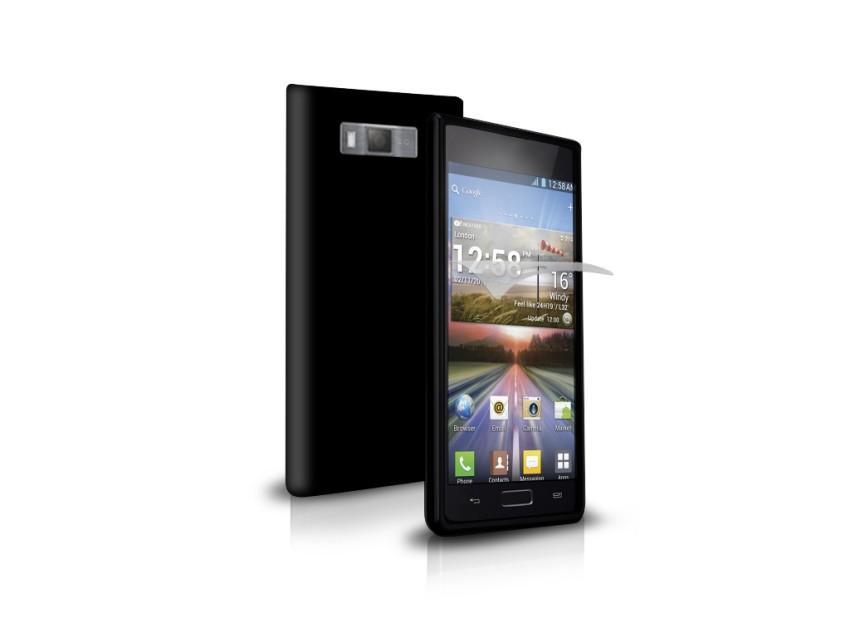 Чехол Aero и пленка защитная для LG Optimus L7 (черный)