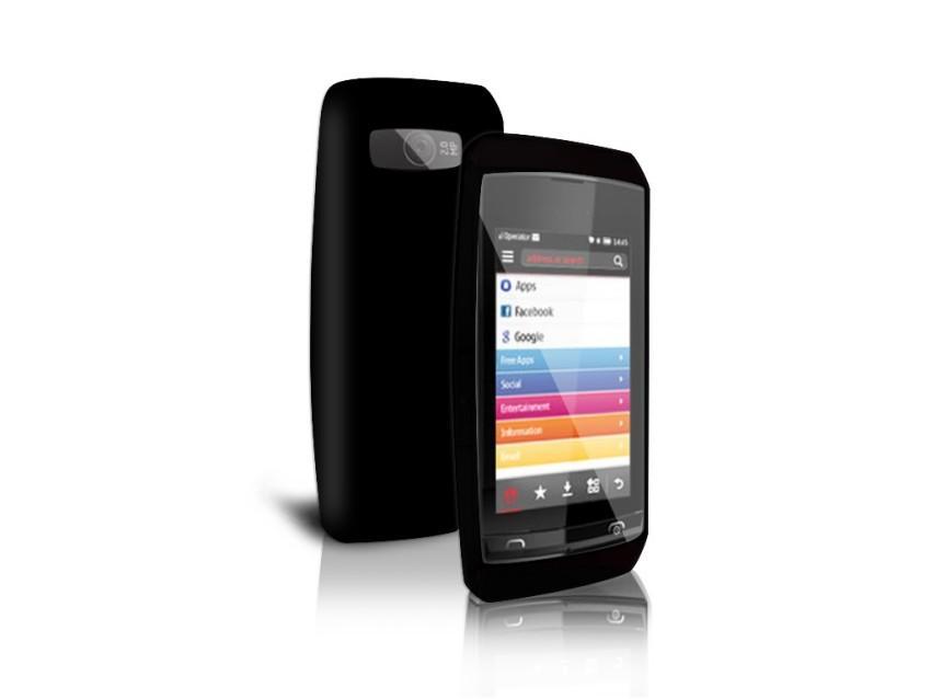 Чехол и пленка защитная для Nokia Asha 305/306 (черный)