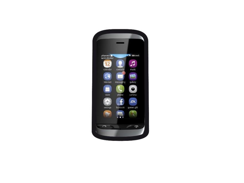 Чехол Entry и пленка защитная для Nokia Asha 309 (черный)