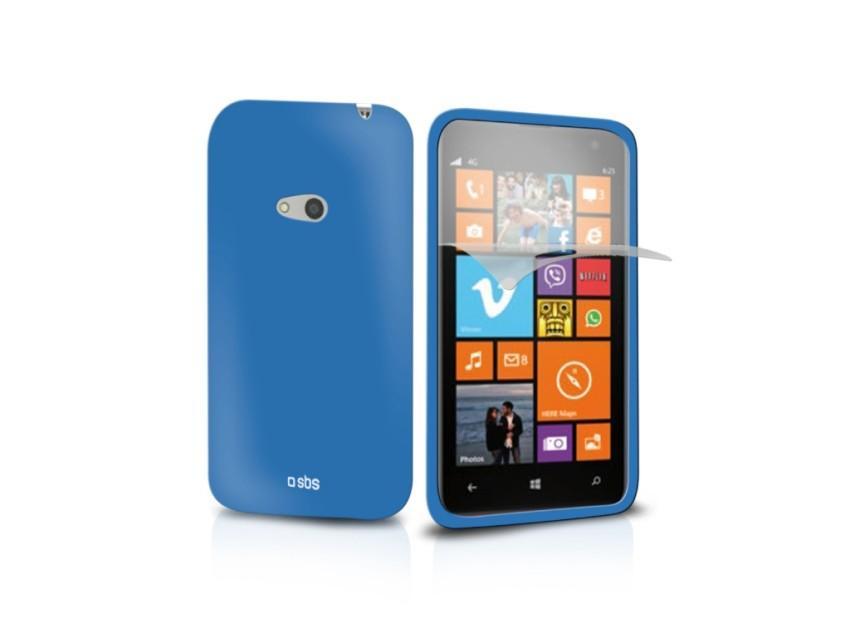 Чехол Aero и пленка защитная для Nokia Lumia 625 (синий)