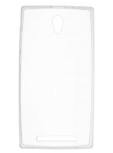 Силиконовый чехол для телефона skinBOX. Slim Silicone, для Prestigio Muze C5/C7, цвет прозрачный