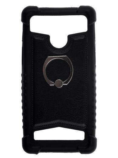 Чехол для телефона универсальный skinBOX. Universal Universal 4-4,5 ring, цвет черный
