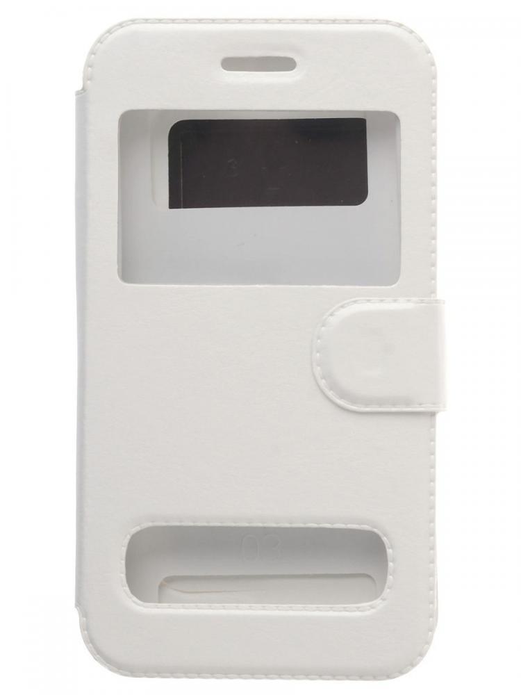 Чехол-книжка для телефона универсальный skinBOX. Silicone Sticker 4,5, цвет белый