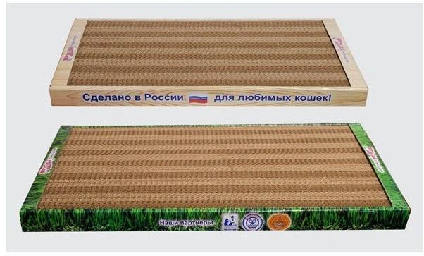 Когтеточка для кошек Когтедралка домашняя с кошачьей мятой (малая), 50х24х3,5 см
