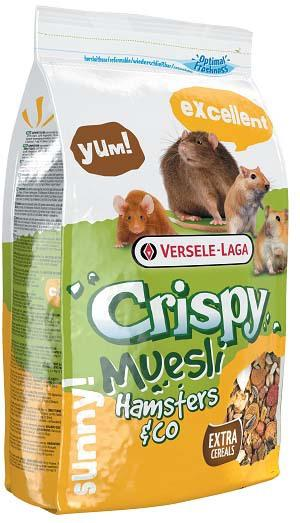 Корм для хомяков и других грызунов Crispy Muesli Hamsters & Co, 1 кг