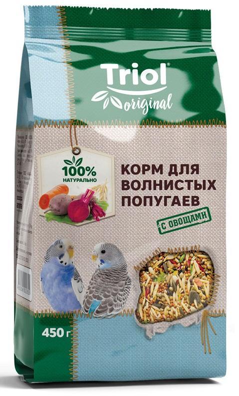 Корм для волнистых попугаев Triol Original с овощами, 450 г