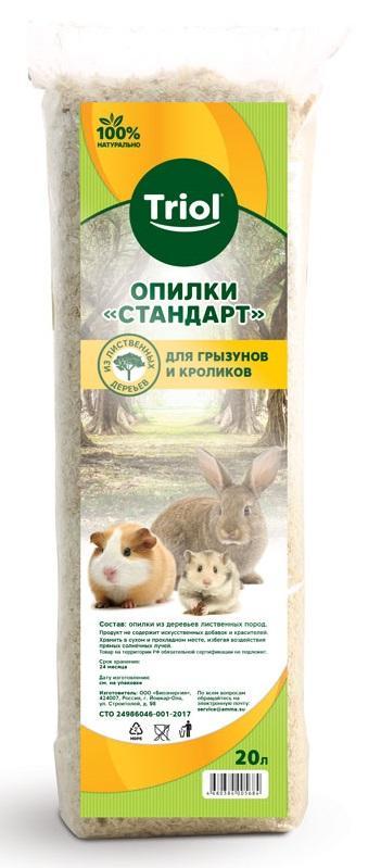 Опилки Тriol Стандарт для грызунов и кроликов, 20 л