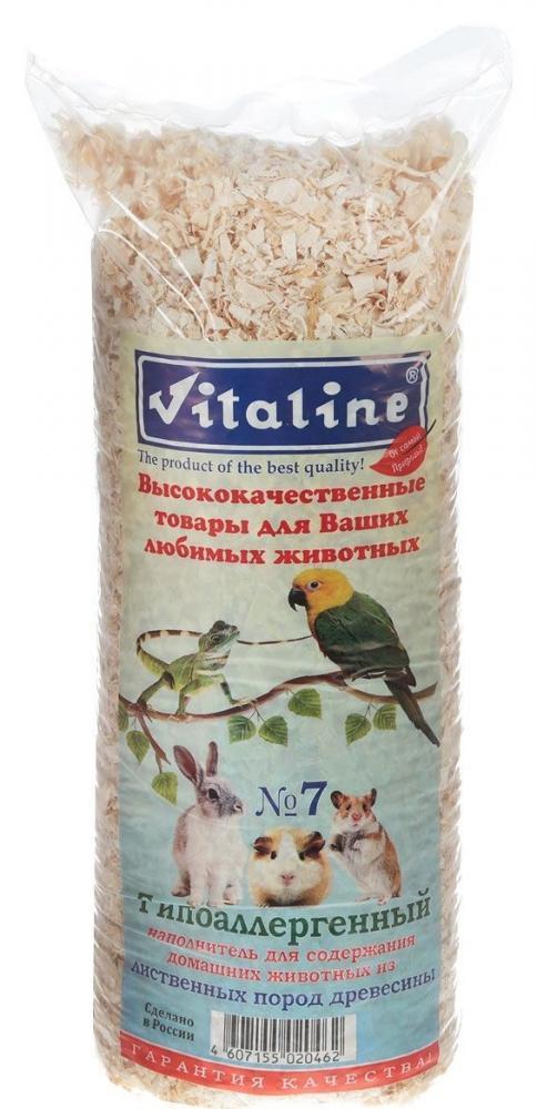 Наполнитель для грызунов Vitaline Гипоаллергенный №7, древесный, 14,7 л